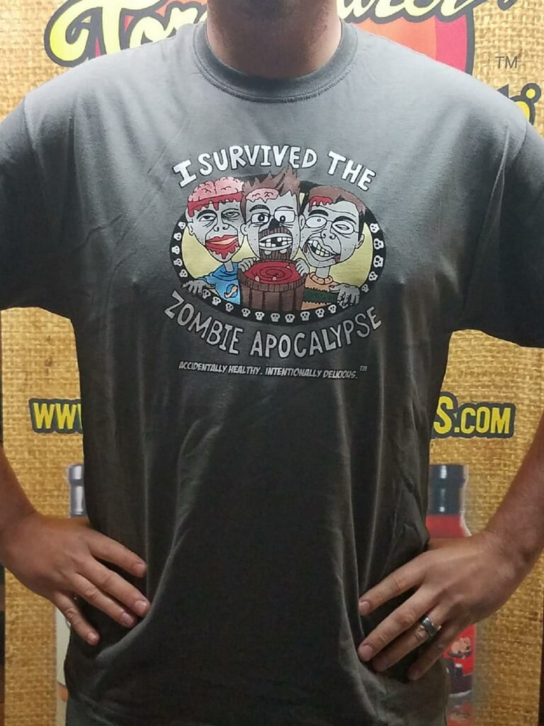 I Survived The Zombie Apocalypse T-Shirt version 2.0