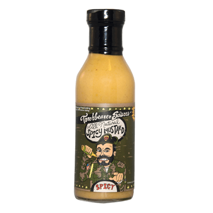 Spicy Horseradish Mustard Sauce | All Natural Case of 12 (12 oz bottles)